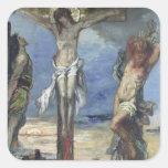 Cristo entre los dos ladrones, c.1870 colcomania cuadrada