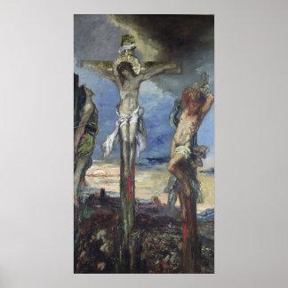 Cristo entre los dos ladrones, c.1870 póster