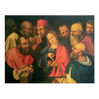 Cristo, envejecido doce, entre los escribanos tarjetas postales