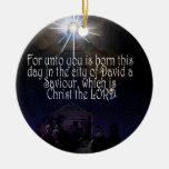 CRISTO ES 2:11 NACIDO de Lucas del ORNAMENTO Ornamento De Reyes Magos
