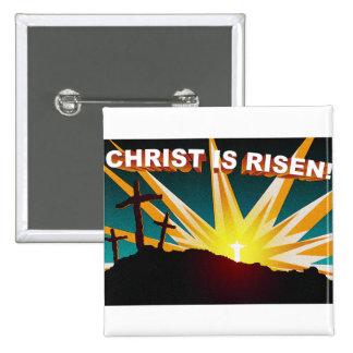Cristo es diseño cruzado cristiano subido del rega pin cuadrado