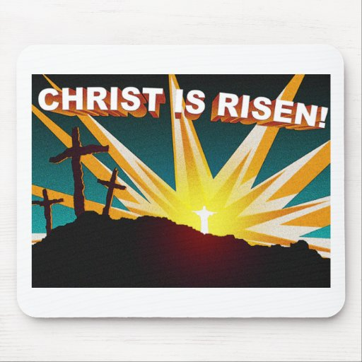 Cristo es diseño cruzado cristiano subido del rega tapete de ratones