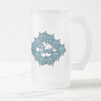 Cristo es el centro - azul claro taza de cristal