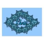 Cristo es el centro - de los azules claros de la z tarjetas de negocios