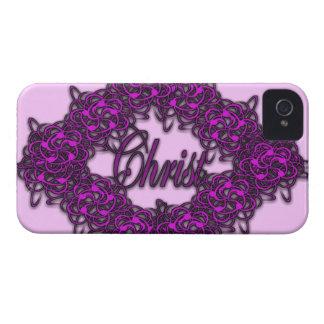 Cristo es el centro - rosa de la moda Case-Mate iPhone 4 cárcasas