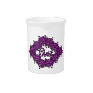 Cristo es el centro - rosa de la moda jarras de beber
