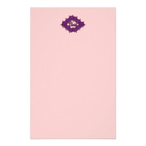 Cristo es el centro - rosa de la moda papelería