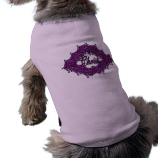 Cristo es el centro - rosa de la moda ropa perro