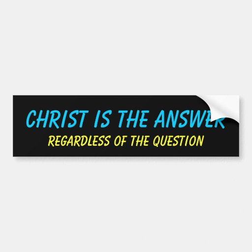 Cristo es la pegatina para el parachoques de la re pegatina de parachoque