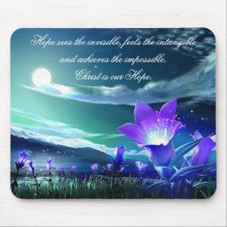 Cristo es nuestro mousepad de la esperanza alfombrilla de ratones