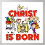 Cristo es regalo cristiano nacido del navidad de l impresiones