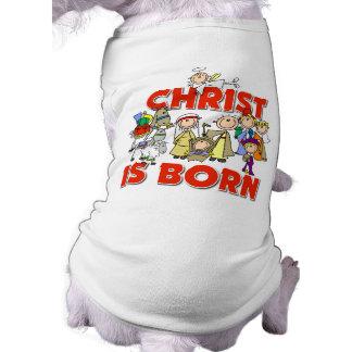 Cristo es regalo cristiano nacido del navidad de l camisa de perrito