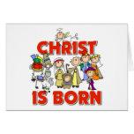 Cristo es regalo nacido del navidad felicitaciones