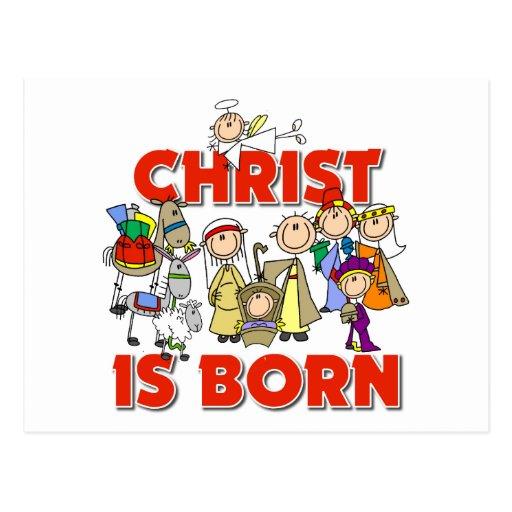 Cristo es regalo nacido del navidad tarjeta postal