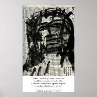 Cristo, espinas, Dickinson Póster