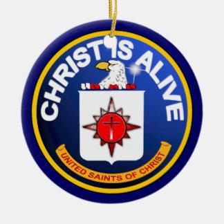 Cristo está vivo - icono de la Cia idéntico Adorno Redondo De Cerámica