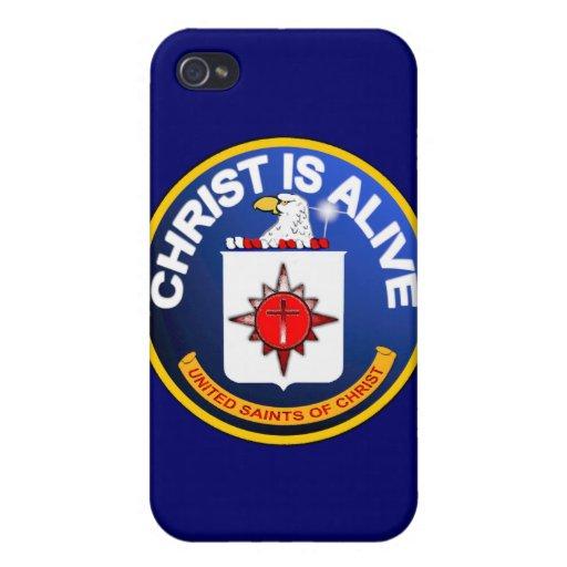 Cristo está vivo - icono de la Cia idéntico iPhone 4 Funda
