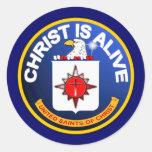Cristo está vivo - icono de la Cia idéntico Etiqueta Redonda