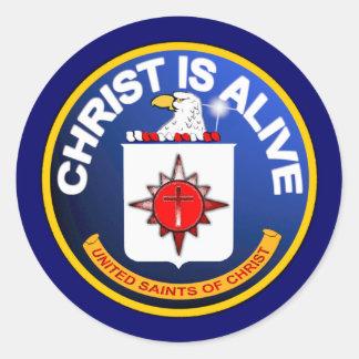 Cristo está vivo - icono de la Cia idéntico Pegatina Redonda