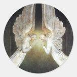 Cristo guardó por ángeles de Guillermo Blake Pegatina Redonda