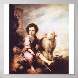 Cristo joven como el buen pastor circa 1660 posters