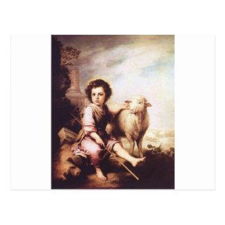 Cristo joven como el buen pastor circa 1660 postales