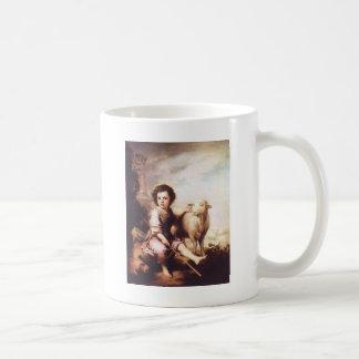 Cristo joven como el buen pastor circa 1660 taza de café