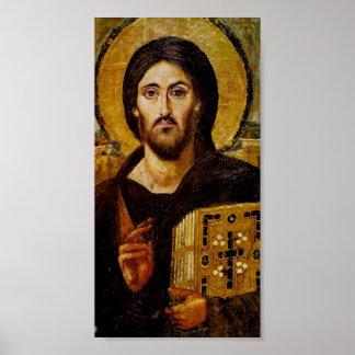 Cristo la impresión del poster del salvador