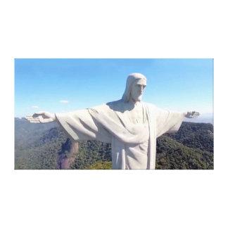 Cristo la lona 36x20 del redentor impresión en lienzo