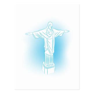 Cristo la señal de la estatua del redentor postal