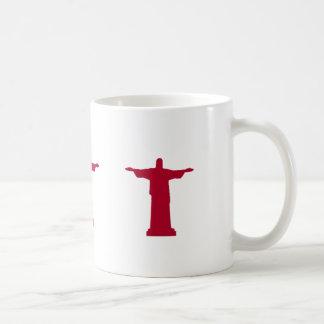 Cristo la silueta RJ del redentor Taza