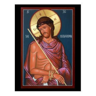 Cristo la tarjeta del rezo del novio postal