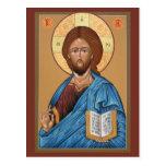 Cristo la tarjeta ligera del rezo del donante postales