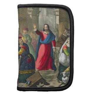 Cristo limpia el templo, de un b impreso biblia planificadores
