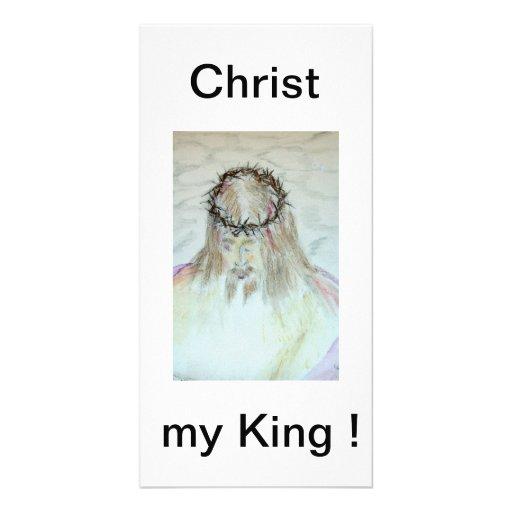 Cristo mi rey tarjeta con foto personalizada