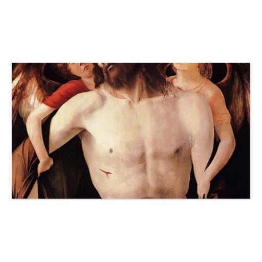 Cristo muerto apoyado por ángel de Juan Bellini Plantilla De Tarjeta Personal
