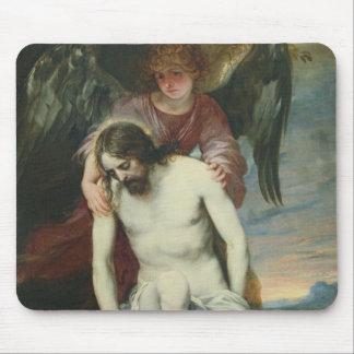 Cristo muerto apoyado por un ángel, c.1646-52 (ace alfombrilla de ratones