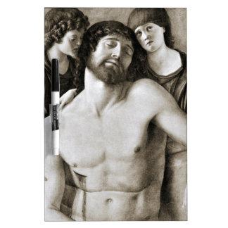 Cristo muerto entre dos ángeles de Juan Bellini Pizarras Blancas De Calidad