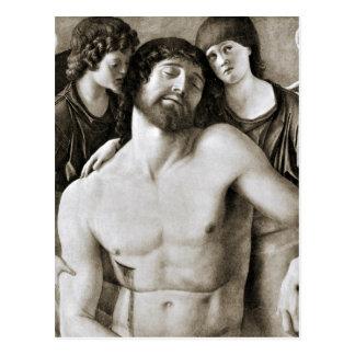 Cristo muerto entre dos ángeles de Juan Bellini Tarjeta Postal