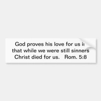 Cristo murió por nosotros pegatina para auto