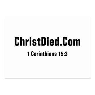 Cristo murió rechoncho plantilla de tarjeta de negocio