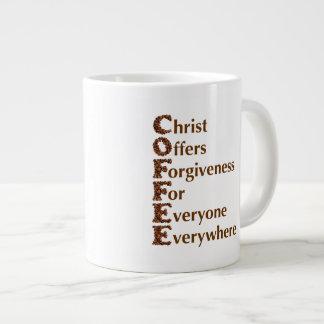 """""""Cristo ofrece a perdón para cada uno"""" la taza de Taza Grande"""