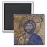 Cristo Pantocrator Imán Cuadrado