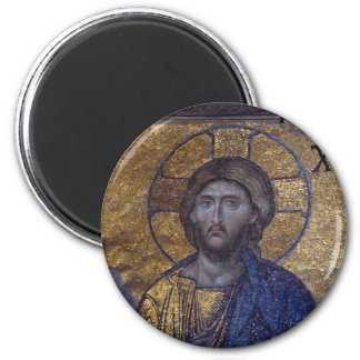 Cristo Pantocrator Imán Redondo 5 Cm