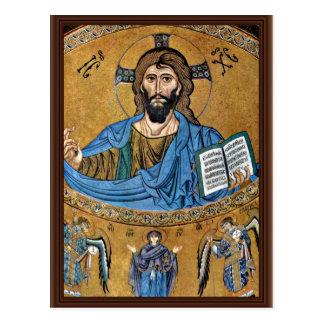 Cristo Pantocrator por el ¹ de Meister Von Cefalã Tarjetas Postales