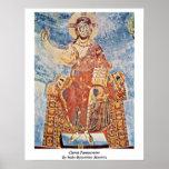 Cristo Pantocrator por los amos Italo-Bizantinos Poster
