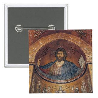 Cristo Pantocrator y Madonna Pin Cuadrada 5 Cm