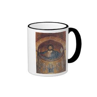 Cristo Pantocrator y Madonna Taza De Dos Colores