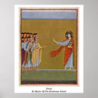 Cristo por el amo de la escuela de Reichenau Póster