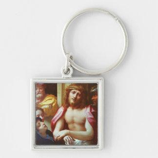 Cristo presentó a la gente (el homo de Ecce) Llavero Cuadrado Plateado